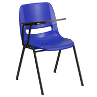 Advantage Blue Ergonomic Shell Chair with Right Handed Flip-Up Tablet Arm [RUT-EO1-BL-RTAB-GG]