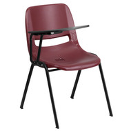 Advantage Burgundy Ergonomic Shell Chair with Right Handed Flip-Up Tablet Arm [RUT-EO1-BY-RTAB-GG]