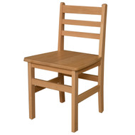 """Wood Designs 18"""" Seat Height Wood Armless Ladderback Chair [81801-WDD]"""