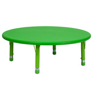 Advantage 45'' Round Green Plastic Height Adjustable Activity Table [YU-YCX-005-2-ROUND-TBL-GREEN-GG]