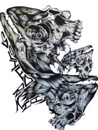 Fishing Skulls   Original Solifornia Art   Print