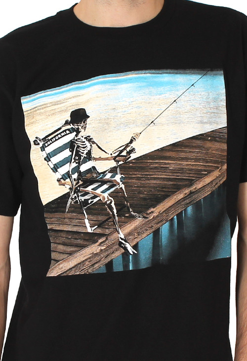 Black - Men - Last Cast Tee (Black) - Solifornia