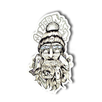Bearded Fisherman Decal
