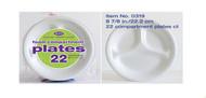AXX22C - 8 7/8 INCH FOAM PLATES  22 PLATES
