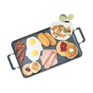 42142 - Nonstick Double Burner Griddle Silicon Handle