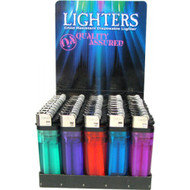 HP1 - Five Assorted in clear colors disposable lighter