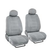 SC1903 - Deluxe Encore Front Seat Covers Low Back 4pcs  (Light grey )