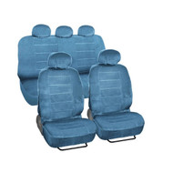 SC1120 - Deluxe Regal Car Seat Covers Low Back 9pc  BLUE