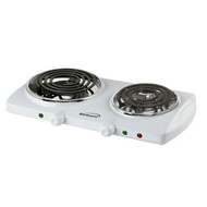 TS-368 - Electric Double Burner in White