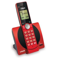 VTech CS6919-16 DECT 6.0 Expandable Cordless Phone with Caller ID  and Handset Speakerphone, Red  ( REFURBISHED )