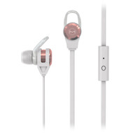 High Performance Secure-Fit Earphones with Flat Cable and Mic  ROSE GOLD