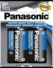 PANASONIC SIZE D 2PACK BATTERY
