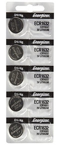 Energizer CR1632 130mAh 3V Lithium (LiMNO2) Coin Cell Battery
