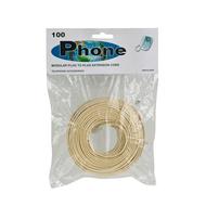 100 Foot Modular Telephone Extension Cord 6P/4C