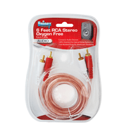 6 Foot RCA Stereo Oxygen Free Patch Cable