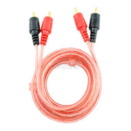 Patch Cable 2 RCA Plugs to 2 RCA Plugs Oxygen Free Cable