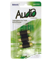 AA1TFG-Triple RCA Coupler
