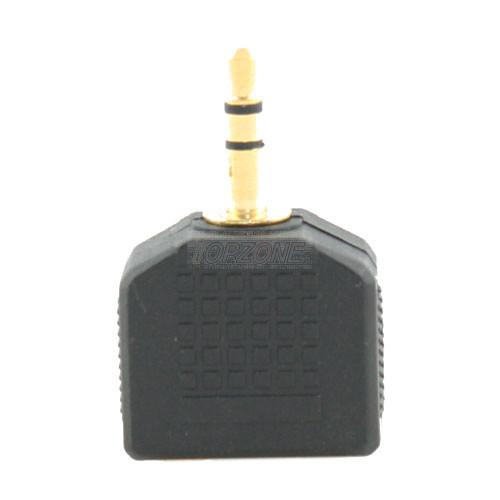 3.5mm Stereo Plug to 3.5mm Stereo Double Jacks.
