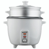 5 Cup Rice Cooker with Steamer in White (TS-600S)