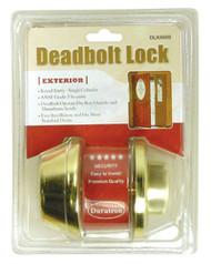 Deadbolt Lock-Single Cylinder-Gold