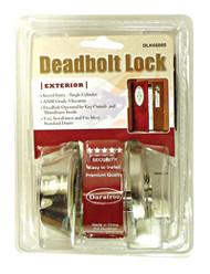 Deadbolt Lock-Single Cylinder-Stainless Silver