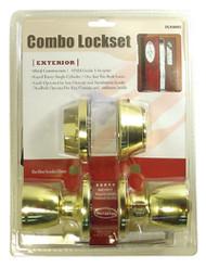 DLK6603-Combo Lockset-Tulip Knob Style-Gold