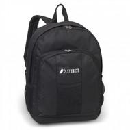 Backpack w/ Front & Side Pockets BLK