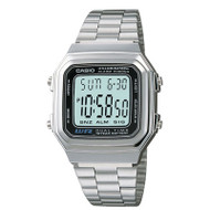 Casio Men's A178WA-1A Illuminator Stainless Steel Watch