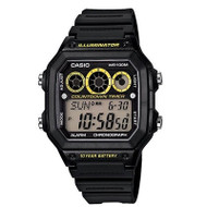 Casio AE1300WH-1A Men's Resin Band World Time Alarm Chrono Referee Timer Watch