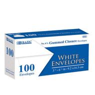 BAZIC #6 3/4 White Envelope W/ Gummed Closure (100/Pack)