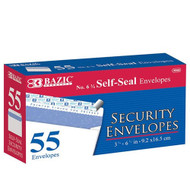 BAZIC #6 3/4 Self-Seal Security Envelope (55/Pack)