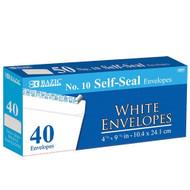 BAZIC #10 Self-Seal White Envelope (40/Pack)