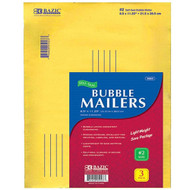 """BAZIC 8.5"""" X 11.25"""" (#2) Self-Seal Bubble Mailers (3/Pack)"""