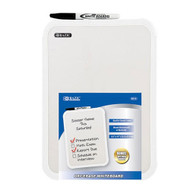"""BAZIC 7.4"""" X 10.3"""" Double Sided Dry Erase Learning Board W/ Marker & Eraser"""