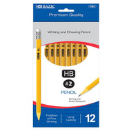 BAZIC #2 Premium Yellow Pencil (12/Pack)