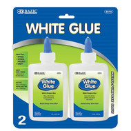 BAZIC 4 Oz. (118mL) White Glue (2/Pack)
