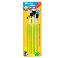 BAZIC Asst. Size Paint Brush Set (5/Pack)