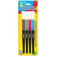BAZIC Jumbo Watercolor Paint Brush (4/Pack)