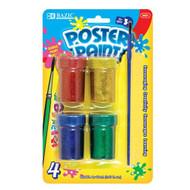 BAZIC 4 Color 18ml Glitter Poster Paint W/ Brush