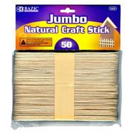 BAZIC Jumbo Natural Craft Stick (50/Pack)