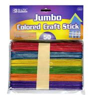 BAZIC Jumbo Colored Craft Stick (50/Pack)