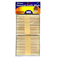 BAZIC Natural Craft Stick (100/Pack)
