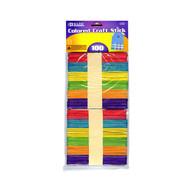 BAZIC Colored Craft Stick (100/Pack)