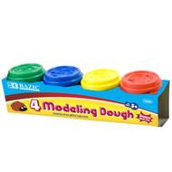 BAZIC 2 Oz. Multi Color Modeling Dough (4/Pack)