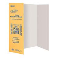 """BAZIC 36"""" X 48"""" White Tri-Fold Corrugated Presentation Board"""