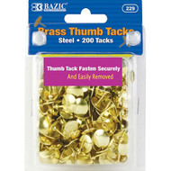 BAZIC Brass (Gold) Thumb Tack (200/Pack)