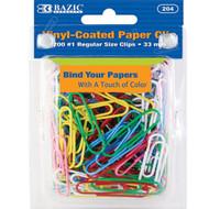 BAZIC No.1 Regular (33mm) Color Paper Clips (200/Pack)