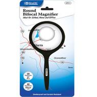 "BAZIC 3"" Round 2x Handheld Magnifier & 4x Bifocal Inset"