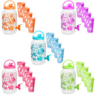 Water Bottle Beverage Dispenser/ Free 4 Cups - BPA-Free Dispenser