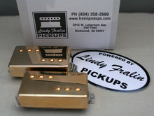 Lindy Fralin P-92 Humbucker Sized P90 Pickup set - gold (8200 neck/9200 bridge)